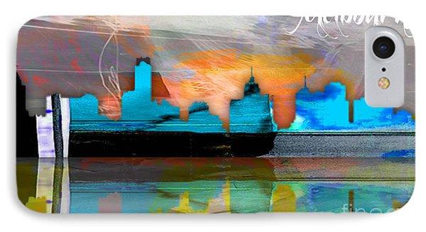Melbourne Australia Skyline Watercolor IPhone Case