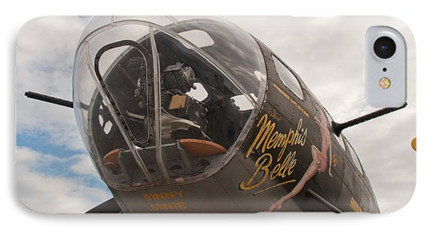 IPhone Case featuring the photograph Memphis Belle Nose Art by John Black