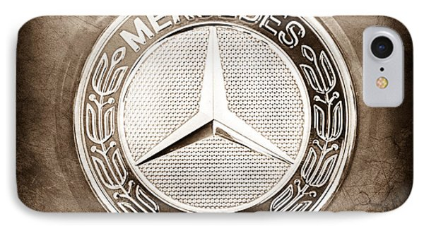 Mercedes-benz 6.3 Amg Gullwing Emblem IPhone Case by Jill Reger