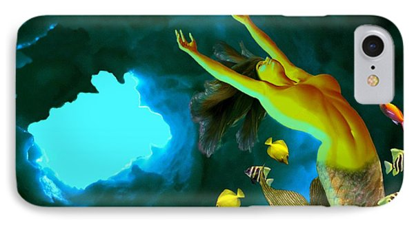 Mermaid Cave IPhone Case by Steed Edwards