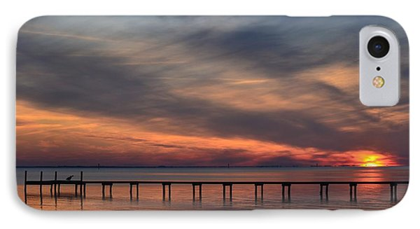 IPhone Case featuring the photograph Mirrored Sunset Colors On Santa Rosa Sound by Jeff at JSJ Photography
