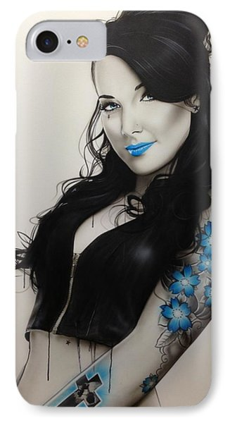 Portrait - ' Miss Metal ' IPhone Case