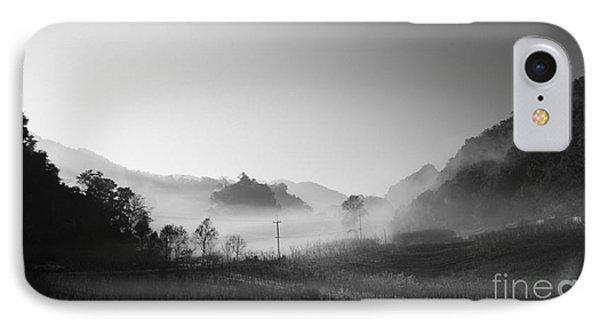 Mist In The Valley IPhone Case by Setsiri Silapasuwanchai