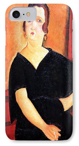 Modigliani's Madame Amedee -- Woman With Cigarette IPhone Case by Cora Wandel