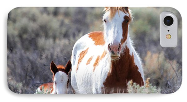 Momma And Baby In The Wild IPhone Case by Athena Mckinzie