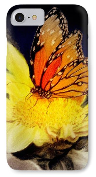 Monarch Resting Sold Pastel IPhone Case by Antonia Citrino