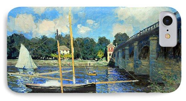 Monet's The Bridge At Argenteuil IPhone Case