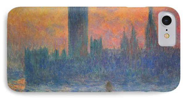 Monet's The Houses Of Parliament At Sunset Phone Case by Cora Wandel