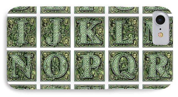 Money Alphabet IPhone Case