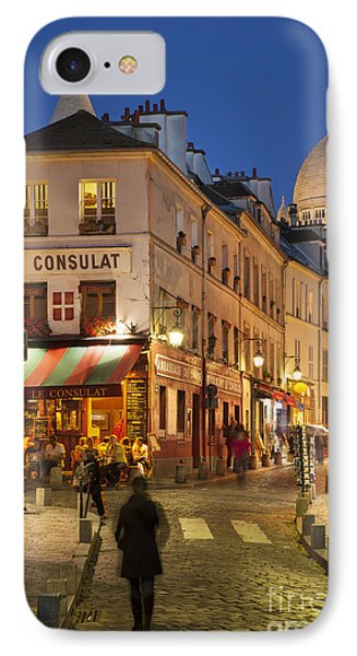 Montmartre Twilight IPhone Case by Brian Jannsen
