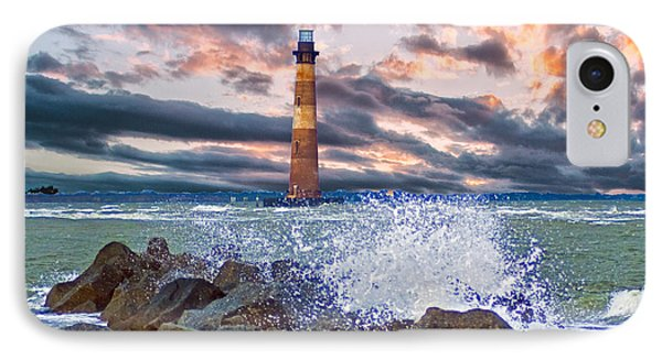 Morris Island Lighthouse IPhone Case by Bill Barber