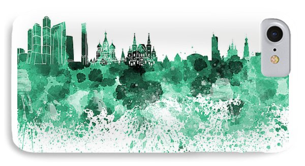 Moscow Skyline White Background IPhone 7 Case by Pablo Romero