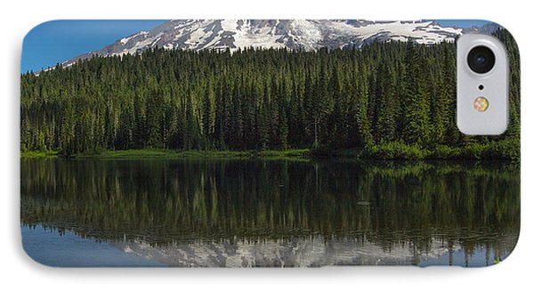 Mount Rainier From Reflection Lake IPhone Case by Bob Noble Photography