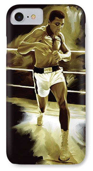 Muhammad Ali Boxing Artwork IPhone Case by Sheraz A