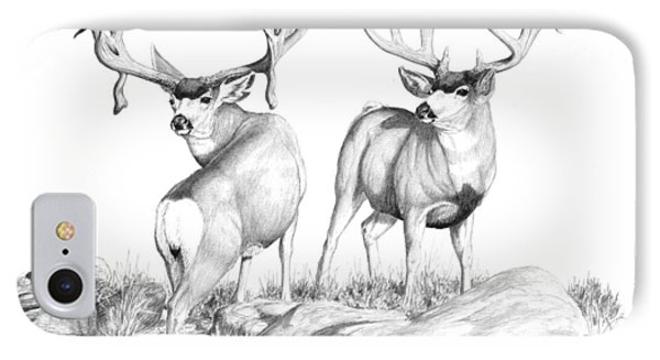 2 Muley Bucks IPhone Case