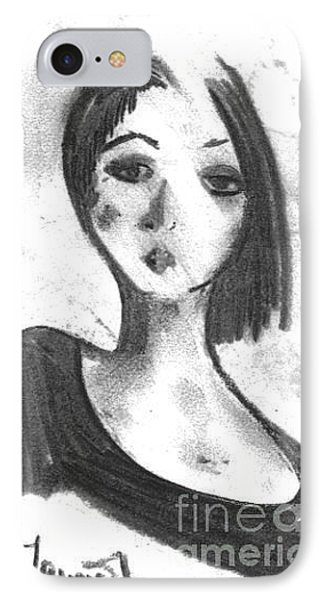 IPhone Case featuring the drawing Nadia by Laurie L