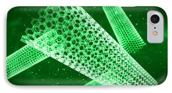 Technological iPhone 7 Case - Nano Tube by Sebastian Kaulitzki/science Photo Library