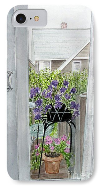 Nantucket Room View IPhone Case by Carol Flagg