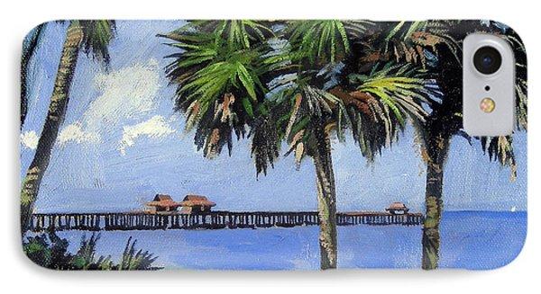 Egret iPhone 7 Case - Naples Pier Naples Florida by Christine Hopkins