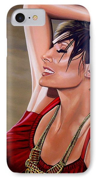 Natalie Imbruglia Painting IPhone Case by Paul Meijering