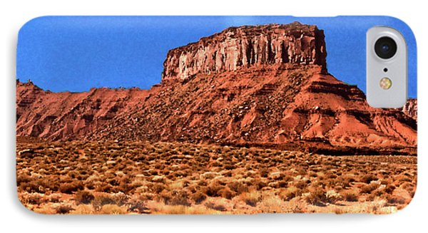 IPhone Case featuring the painting National Navajo Tribal Park by Bob and Nadine Johnston