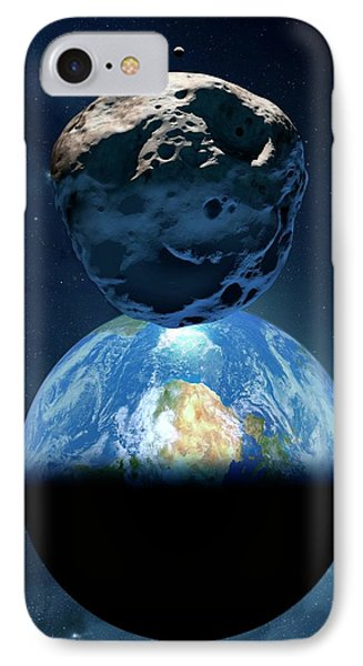Near-earth Asteroid IPhone Case by Detlev Van Ravenswaay