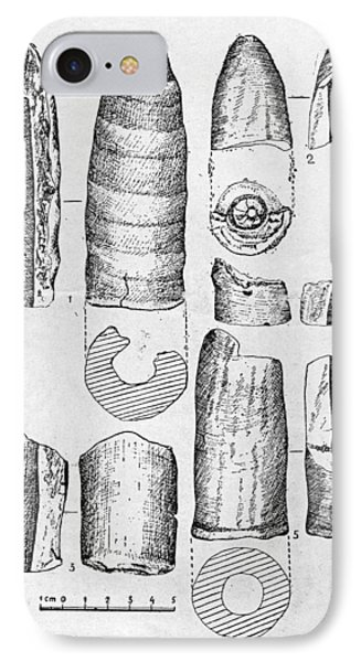 Neolithic Phallus Figures IPhone Case by Granger