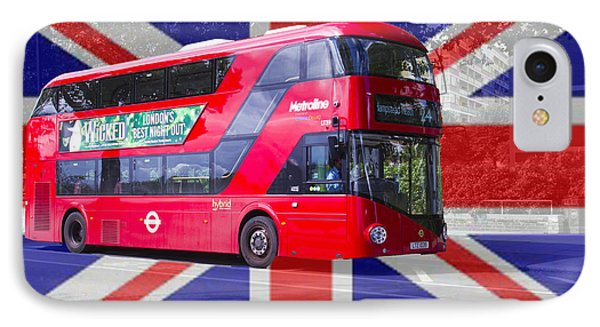 New London Red Bus IPhone Case by David French