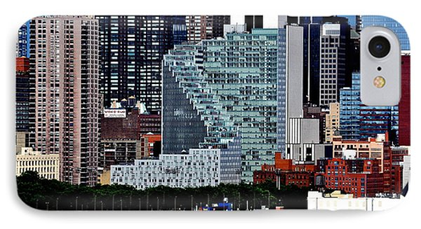 New York City Skyline With Mercedes House IPhone Case
