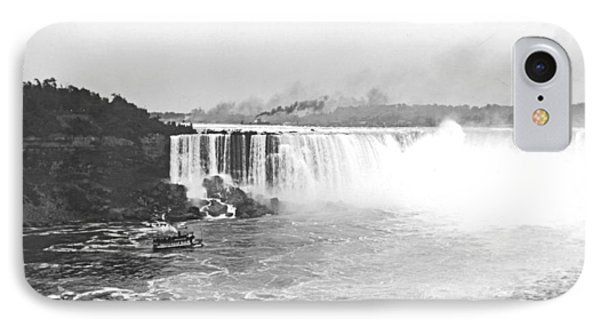 IPhone Case featuring the photograph Niagara Falls Ferry Boat 1904 Vintage Photograph by A Gurmankin