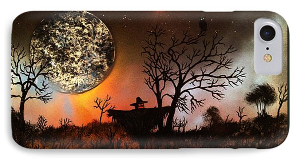 Night Of The Scarecrow  IPhone Case by Michael Rucker
