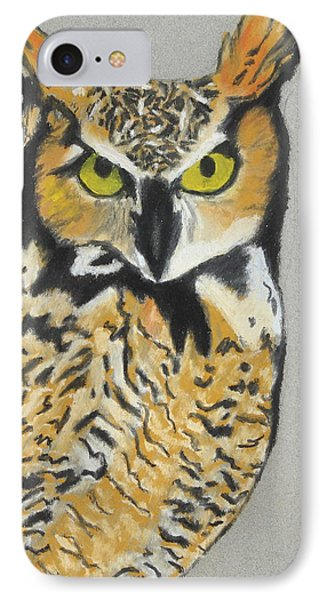 IPhone Case featuring the painting Night Owl by Jeanne Fischer