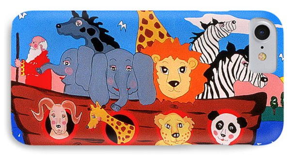 IPhone Case featuring the painting Noah's Ark by Joyce Gebauer