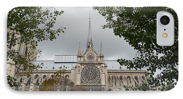 IPhone Case featuring the photograph Notre Dame Cathedral by Deborah Smolinske