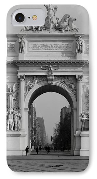 Nyc, Madison Square, Dewey Arch, 1900 IPhone Case by Science Source