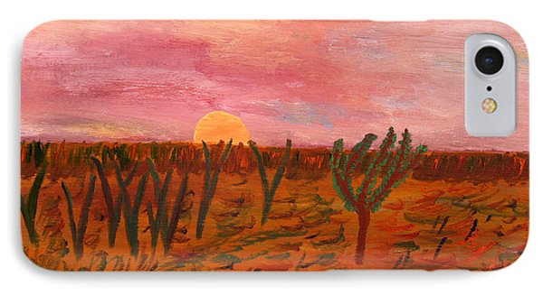 IPhone Case featuring the painting Ocean City Sunset by Vadim Levin