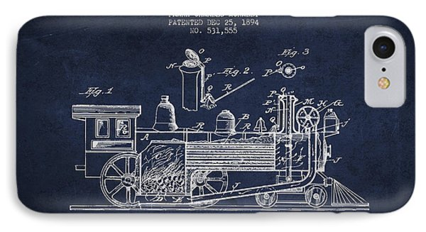 ocomotive Patent drawing from 1894 IPhone Case