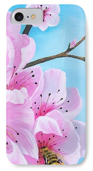 #2 Of Diptych Peach Tree In Bloom IPhone Case by Sharon Duguay
