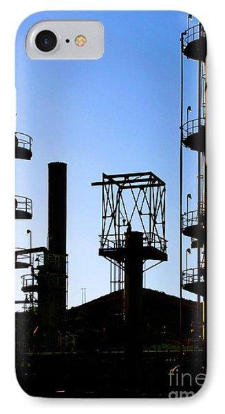 Oil Refinery Phone Case by Henrik Lehnerer