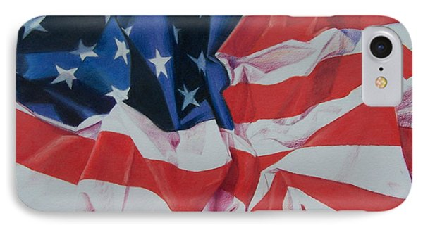 IPhone Case featuring the painting Old Glory 1 by Constance Drescher