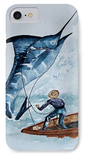 Old Man And The Sea IPhone Case by Barbara McMahon