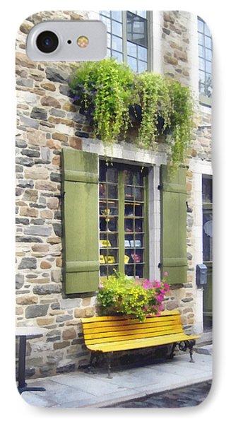 Old Quebec City Quaint Shops  IPhone Case by Ann Powell