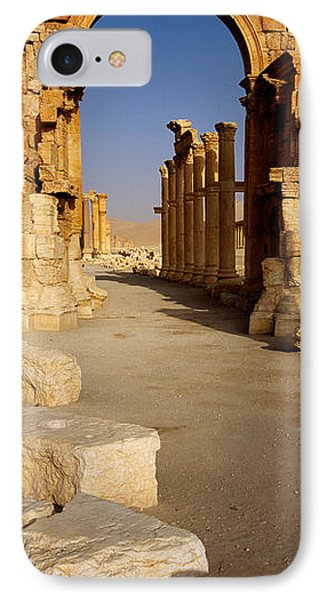 Old Ruins On A Landscape, Palmyra, Syria IPhone Case by Panoramic Images