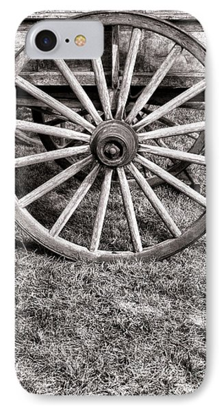 Old Wagon Wheel On Cart IPhone Case