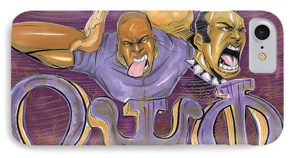 IPhone Case featuring the drawing Omega Psi Phi II by Tu-Kwon Thomas