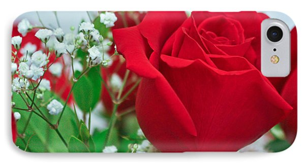 IPhone Case featuring the photograph One Red Rose by Ann Murphy