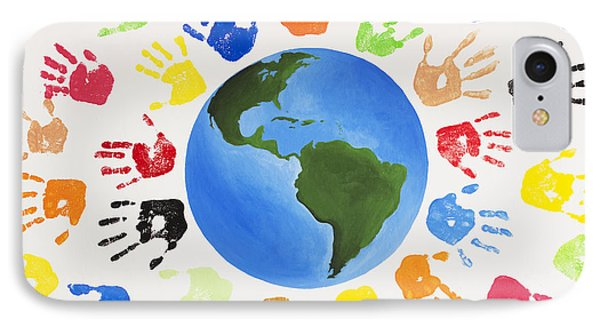One World Phone Case by Tim Gainey
