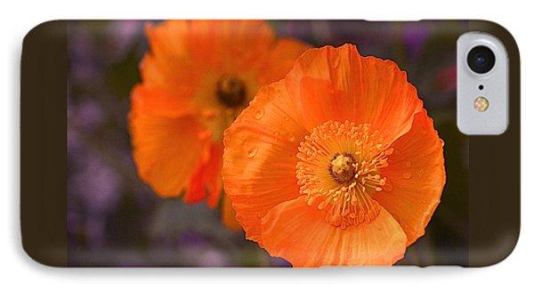 Orange Poppies Phone Case by Rona Black