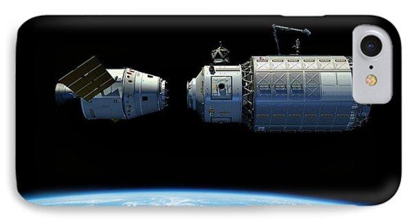 Orbital Maintenance Docking IPhone Case by Walter Myers