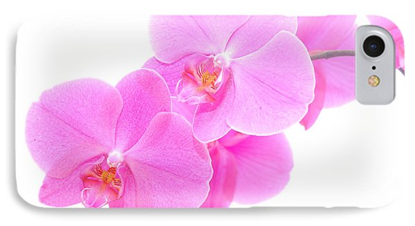 Orchid Isolated Phone Case by Michal Bednarek